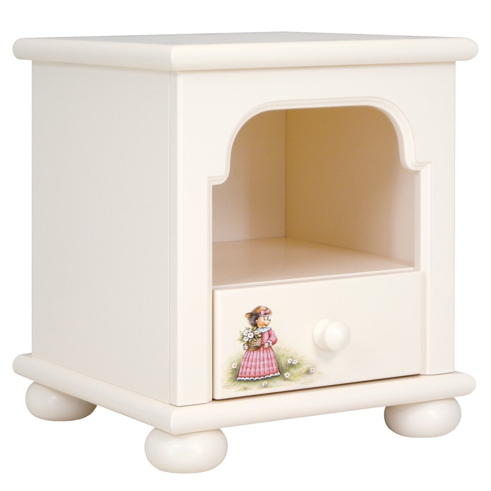 Kids Light Cream Bedside Table | Children's Storage | Tiggy-Winkle Collection | Woodright Home UK
