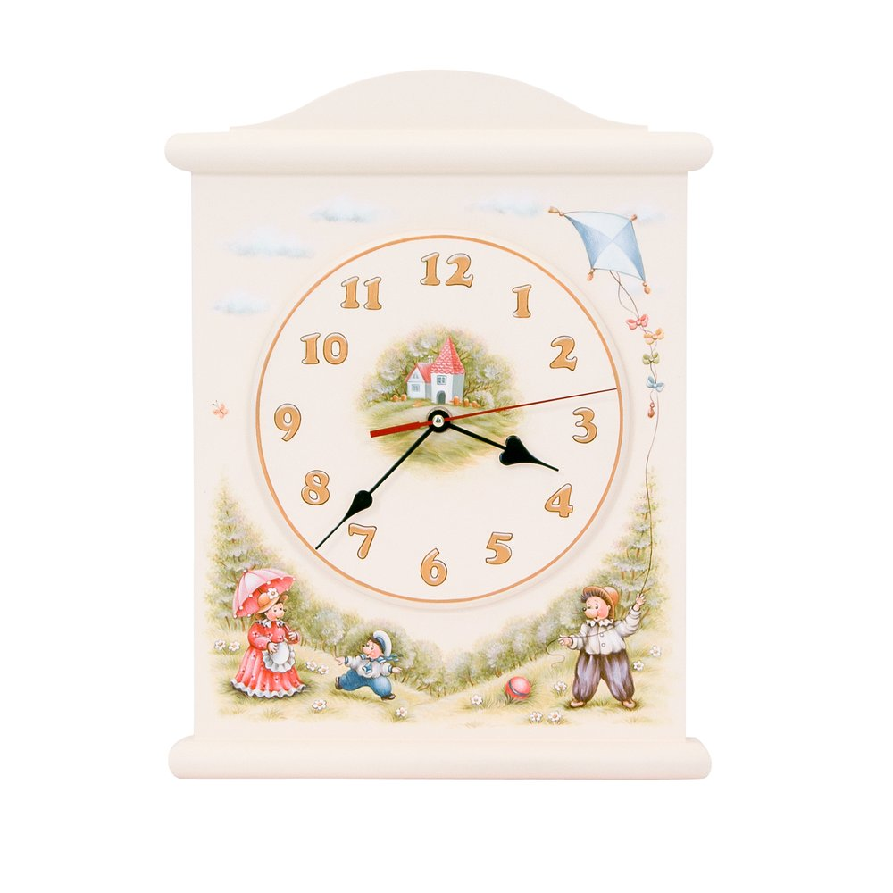 Light Cream Silent Wall Clock | Wall Clocks | Tiggy-Winkle Collection | Woodright Home UK