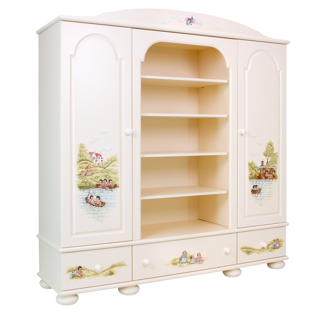Kids Light Cream Combi Wardrobe | Children's Wardrobes | Tiggy-Winkle Collection | Woodright Home UK