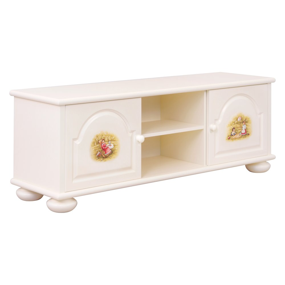 Light Cream Children's TV Stand | Children's Storage | Tiggy-Winkle Collection | Woodright Home UK