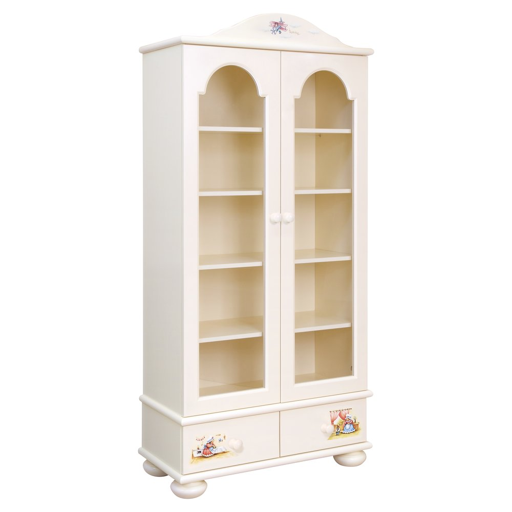 Kids Light Cream Glazed Bookcase | Children's Storage | Tiggy-Winkle Collection | Woodright Home UK