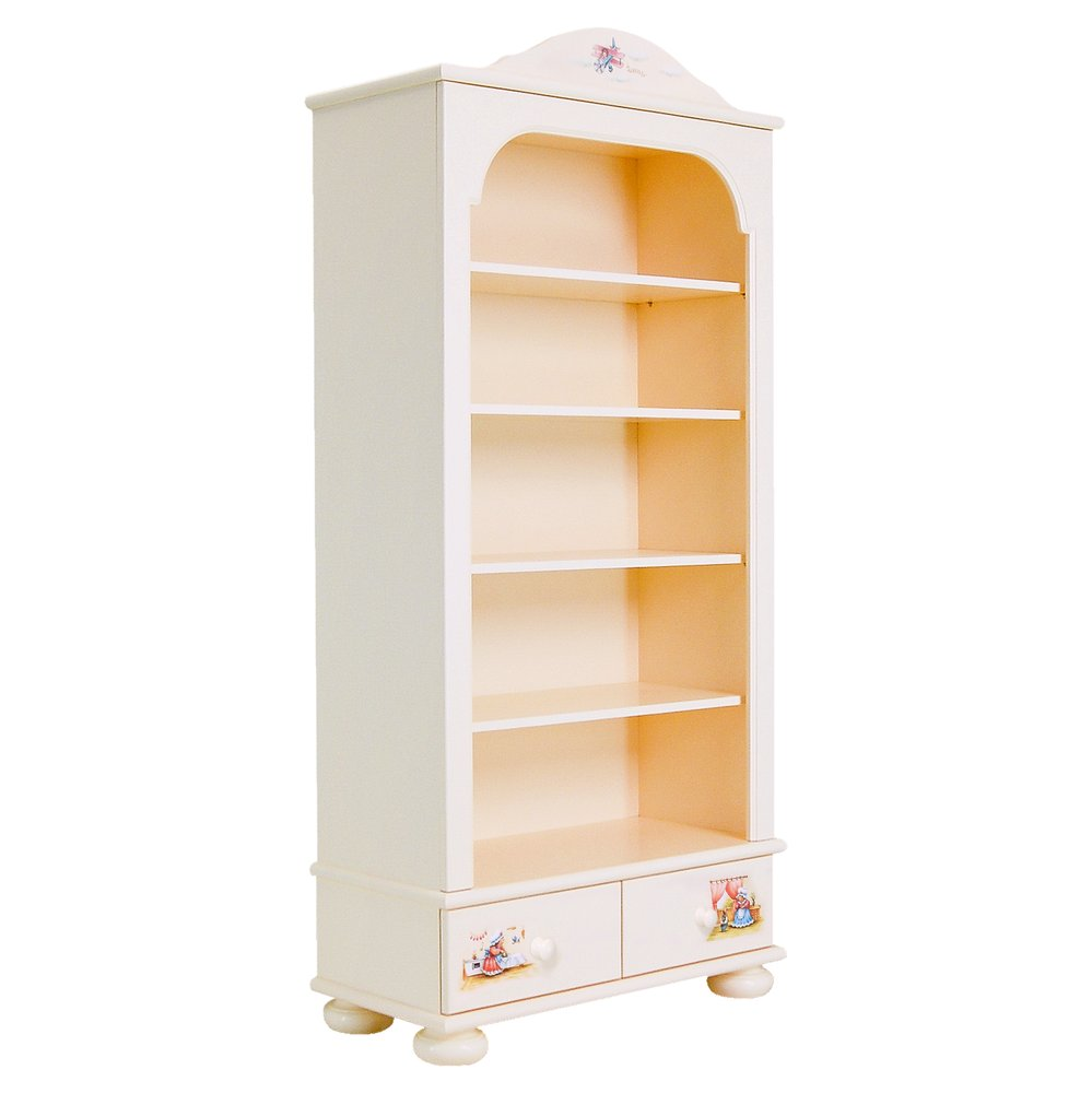 Kids Light Cream Bookcase | Children's Storage | Tiggy-Winkle Collection | Woodright Home UK