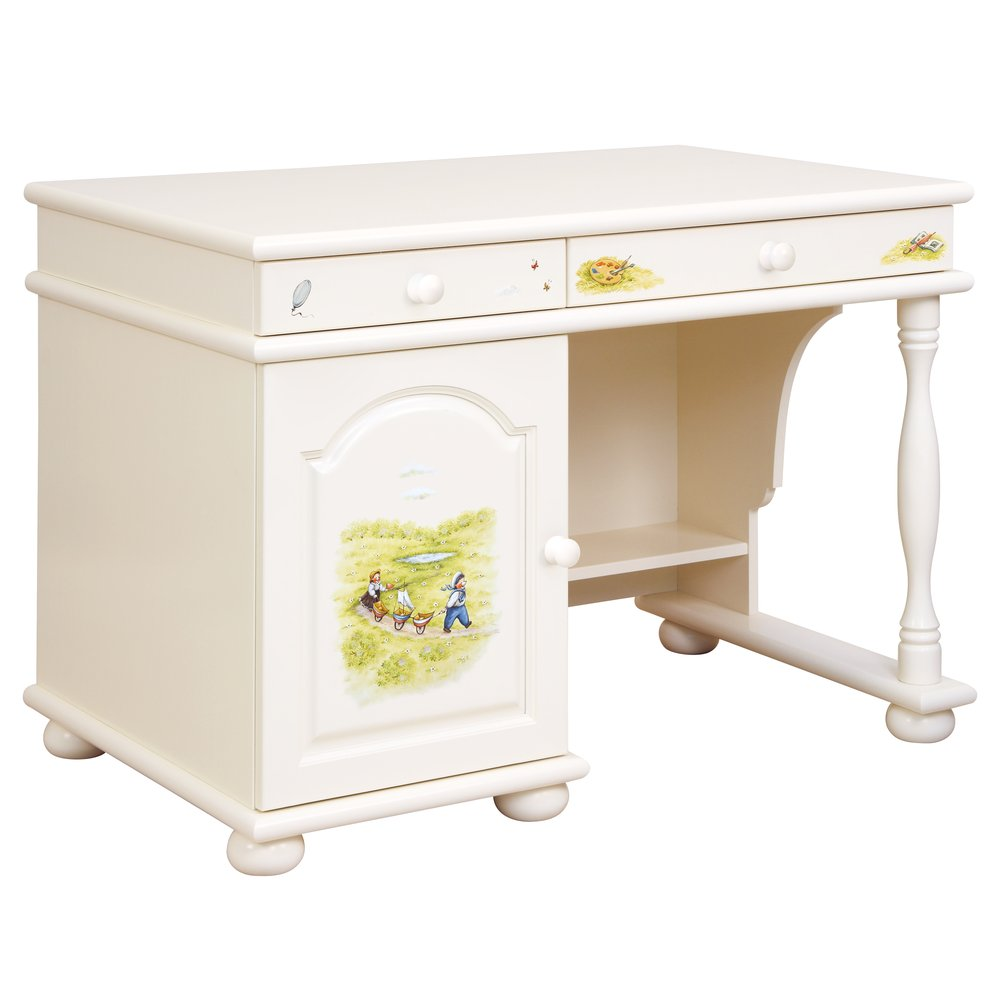 Kids Light Cream Small Desk | Children's Tables & Chairs | Tiggy-Winkle Collection | Woodright Home UK
