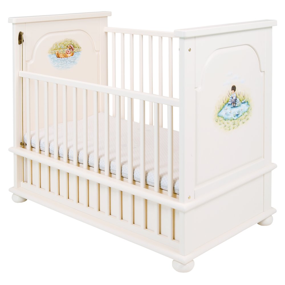 Light Cream Cot Bed | Nursery Furniture | Tiggy-Winkle Collection | Woodright Home UK