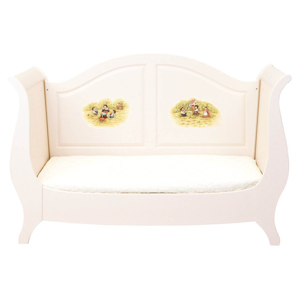 Light Cream Sleigh Cot Bed | Nursery Furniture | Tiggy-Winkle Collection | Woodright Home UK